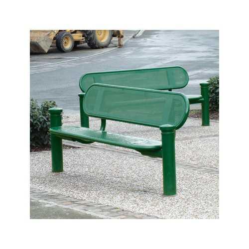 Ławka zewnętrzna metalowa Estoril zielona