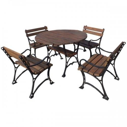 Zestaw ogrodowy Królewski z okrągłym stołem