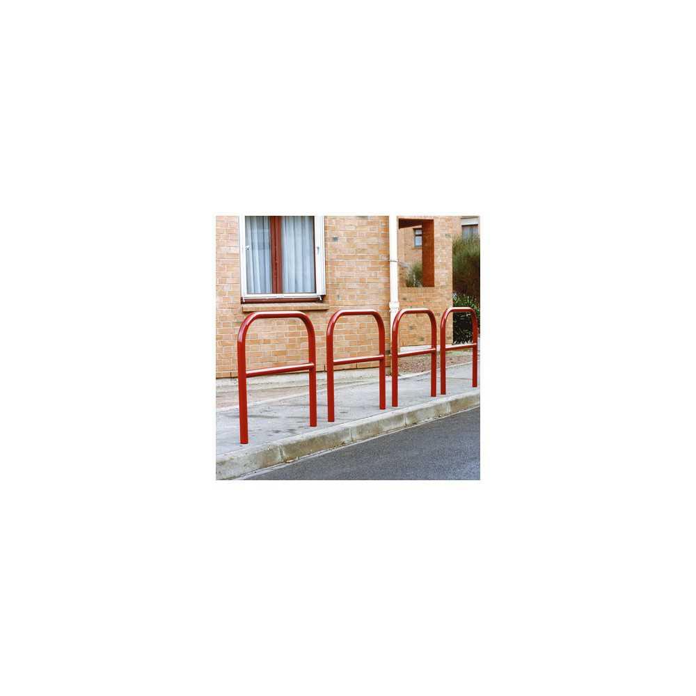 Bariery ochronne miejskie drogowe wzmocnione czerwone