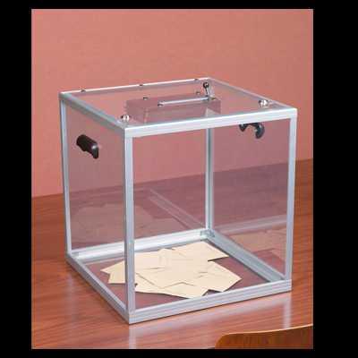 Urna wyborcza z pleksi 40x40 cm