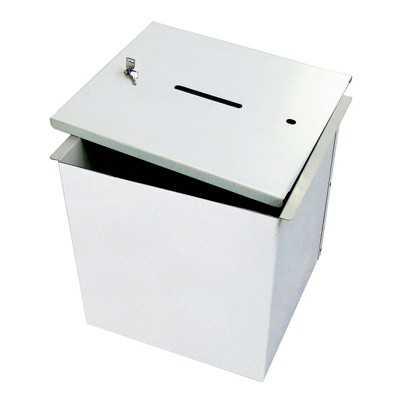 Urny metalowe składane 40x40x40 cm do głosowania