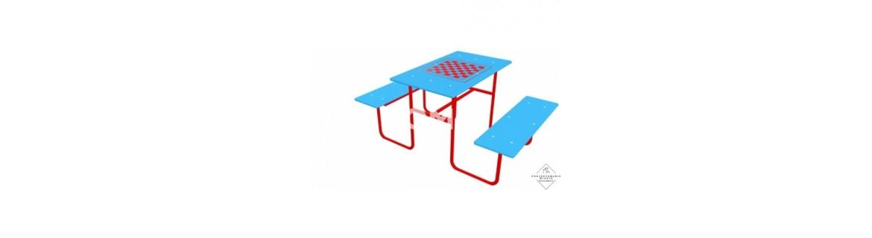 Ławki i stoliki na place zabaw dla dzieci  z atestem bhp
