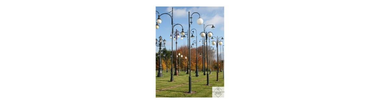 Oświetlenie miejskie nowoczesne i stylizowane - sprawdź ofertę cenową najtańszego oświetlenia do miasta